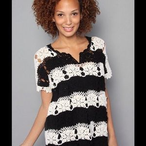 Free People Crochet Tunic Top